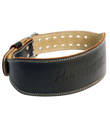 "Harbinger 4"" Padded Leather Belt - FitnessBolaget"