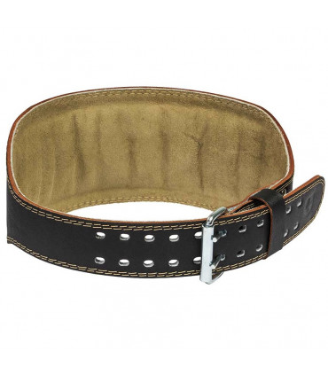 "Harbinger 6"" Padded Leather Belt - FitnessBolaget"
